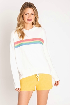 PJ Salvage Rainbow Stripe Hoody - Product List Image