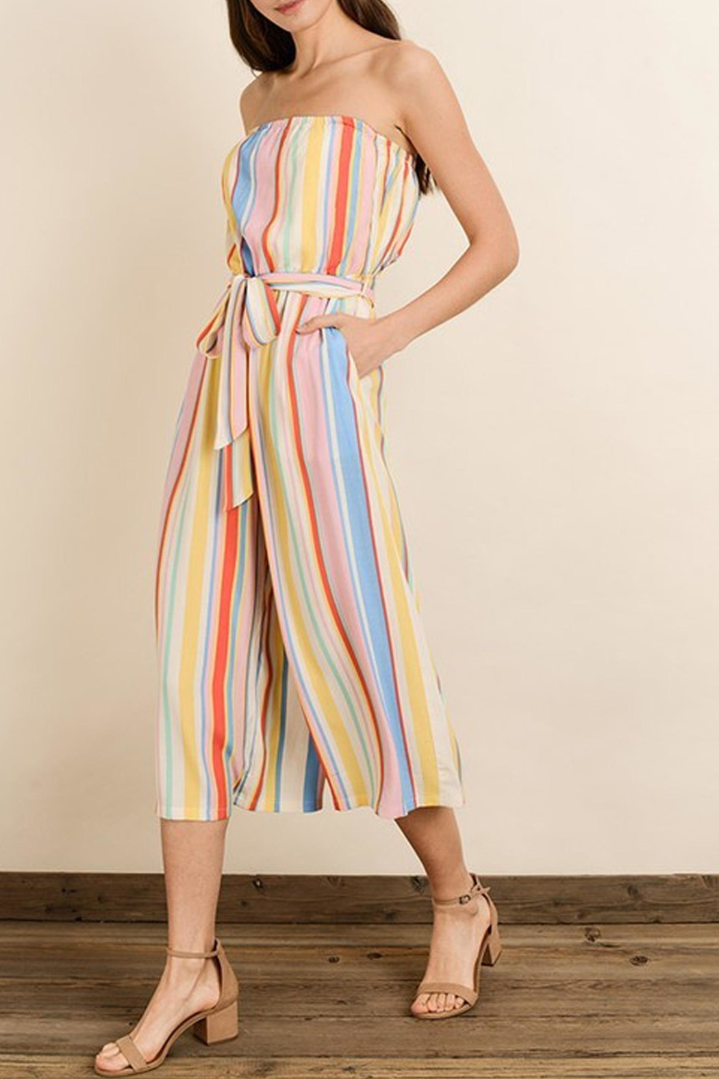 dress forum Rainbow Stripe Jumpsuit - Side Cropped Image