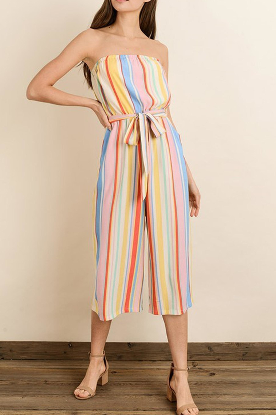 dress forum Rainbow Stripe Jumpsuit - Front Full Image