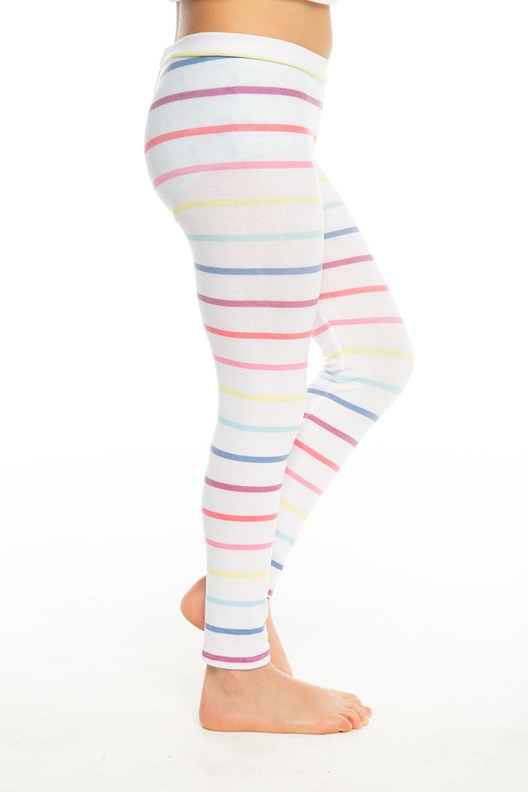 Chaser Rainbow stripe leggings - Front Cropped Image
