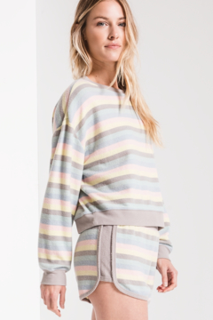 z supply Rainbow Stripe Pullover - Product List Image