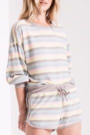 z supply Rainbow Stripe Pullover - Product Mini Image