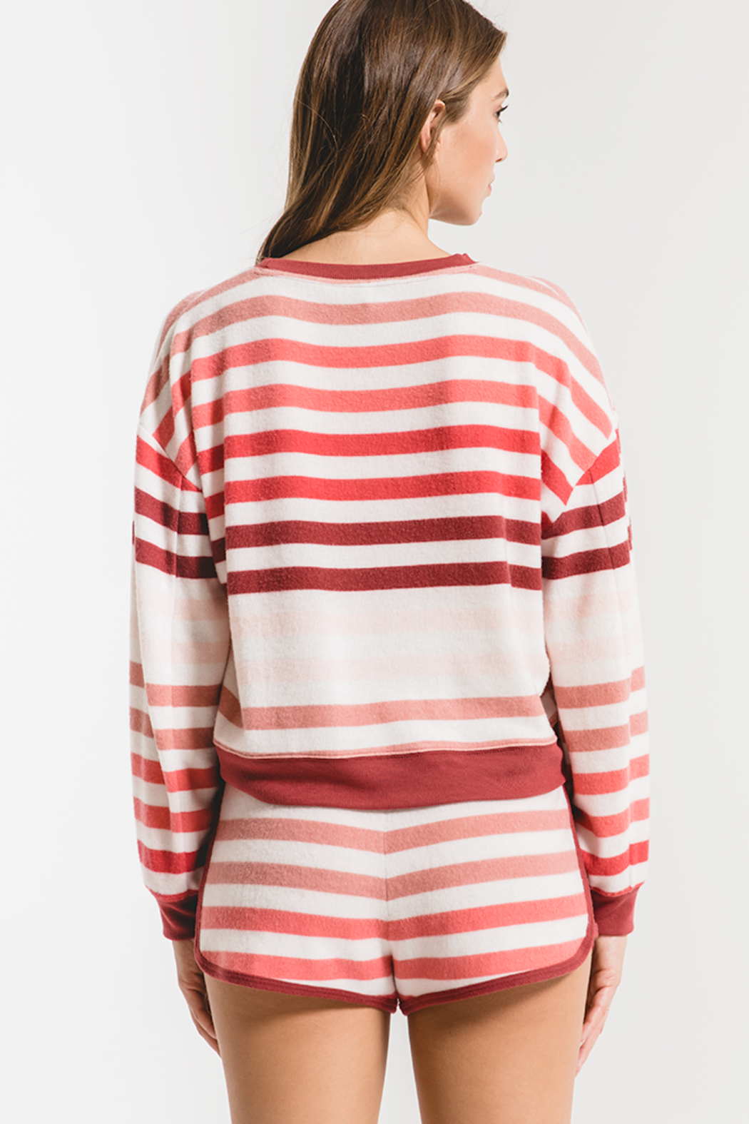 z supply Rainbow Stripe Pullover - Front Full Image