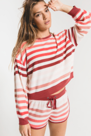 z supply Rainbow Stripe Pullover - Front cropped