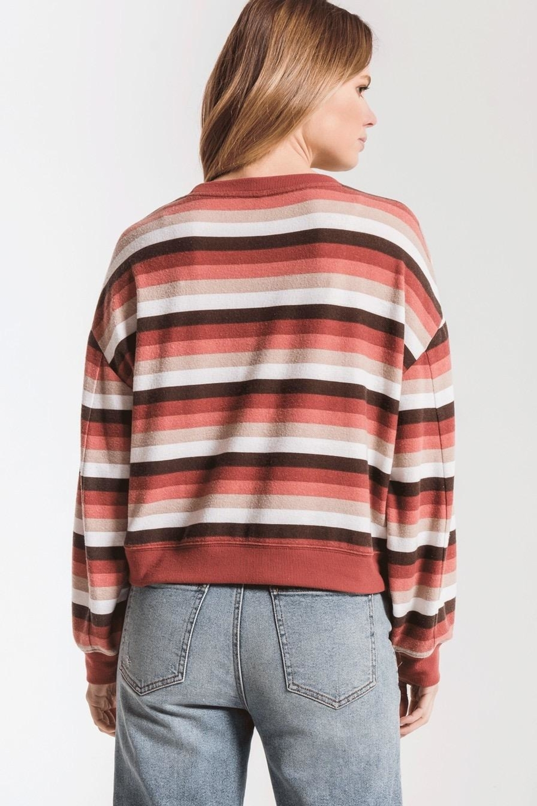 Zsupply Rainbow Stripe Pullover - Front Full Image