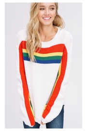 Polly & Esther Rainbow Stripe Sweater - Product Mini Image