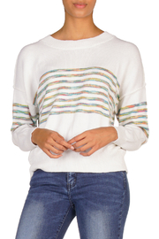 Elan Rainbow Stripe Sweater - Front cropped