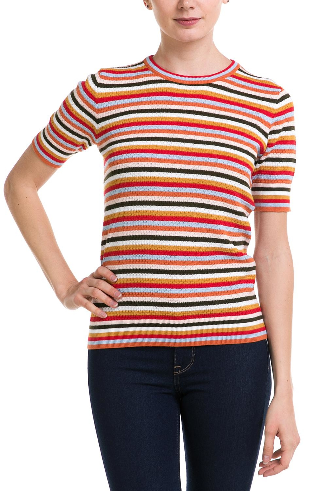1bf947c858c Lumiere Rainbow Stripe Top from New York by Dor L Dor — Shoptiques