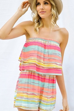 Shoptiques Product: Rainbow Stripe Tube Romper