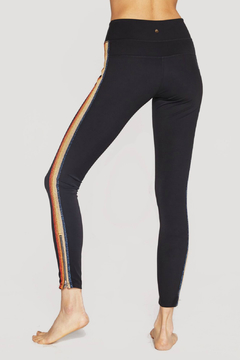 SPIRITUAL GANGSTER Rainbow Stripe Zipper Hem Leggings - Alternate List Image