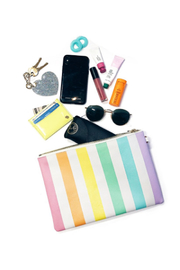 Stoney Clover Lane Rainbow Stripes Pouch - Product Mini Image