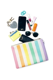 Stoney Clover Lane Rainbow Stripes Pouch - Front cropped
