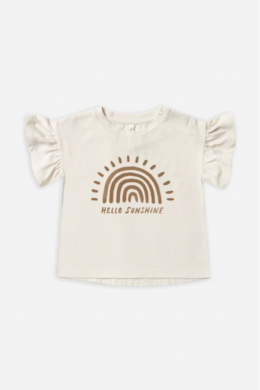 Rylee & Cru Rainbow Sun Flutter Tee - Front Cropped Image