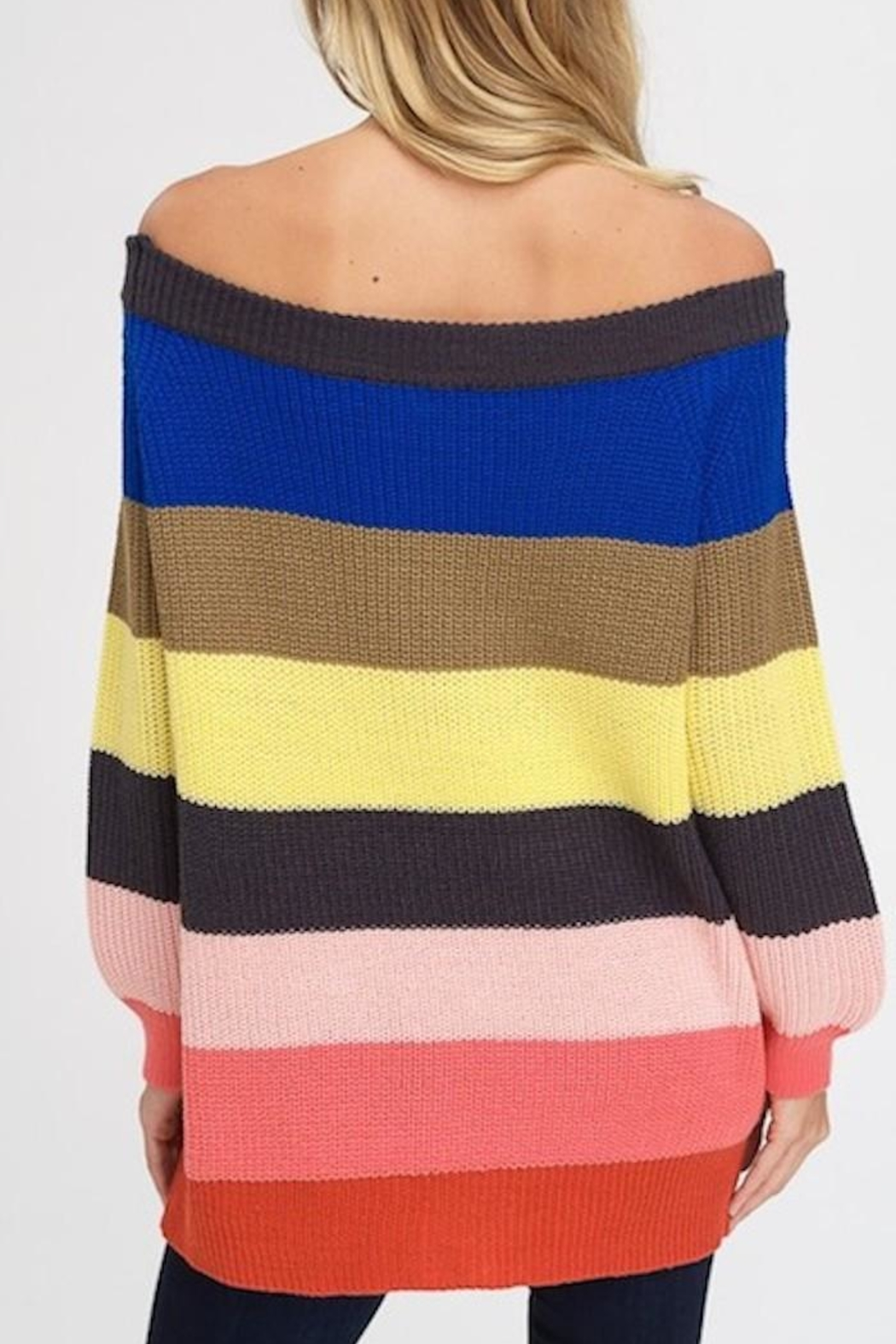 Yipsy Rainbow Sweater - Side Cropped Image