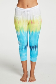 Chaser Rainbow Tie Dye Cropped Joggers - Product Mini Image
