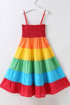 R+D Hipster Emporium  Rainbow Tier Dress - Alternate List Image
