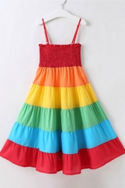 R+D Hipster Emporium  Rainbow Tier Dress - Front cropped