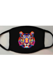 The Nu Vintage Rainbow Tiger Face Mask - Product Mini Image