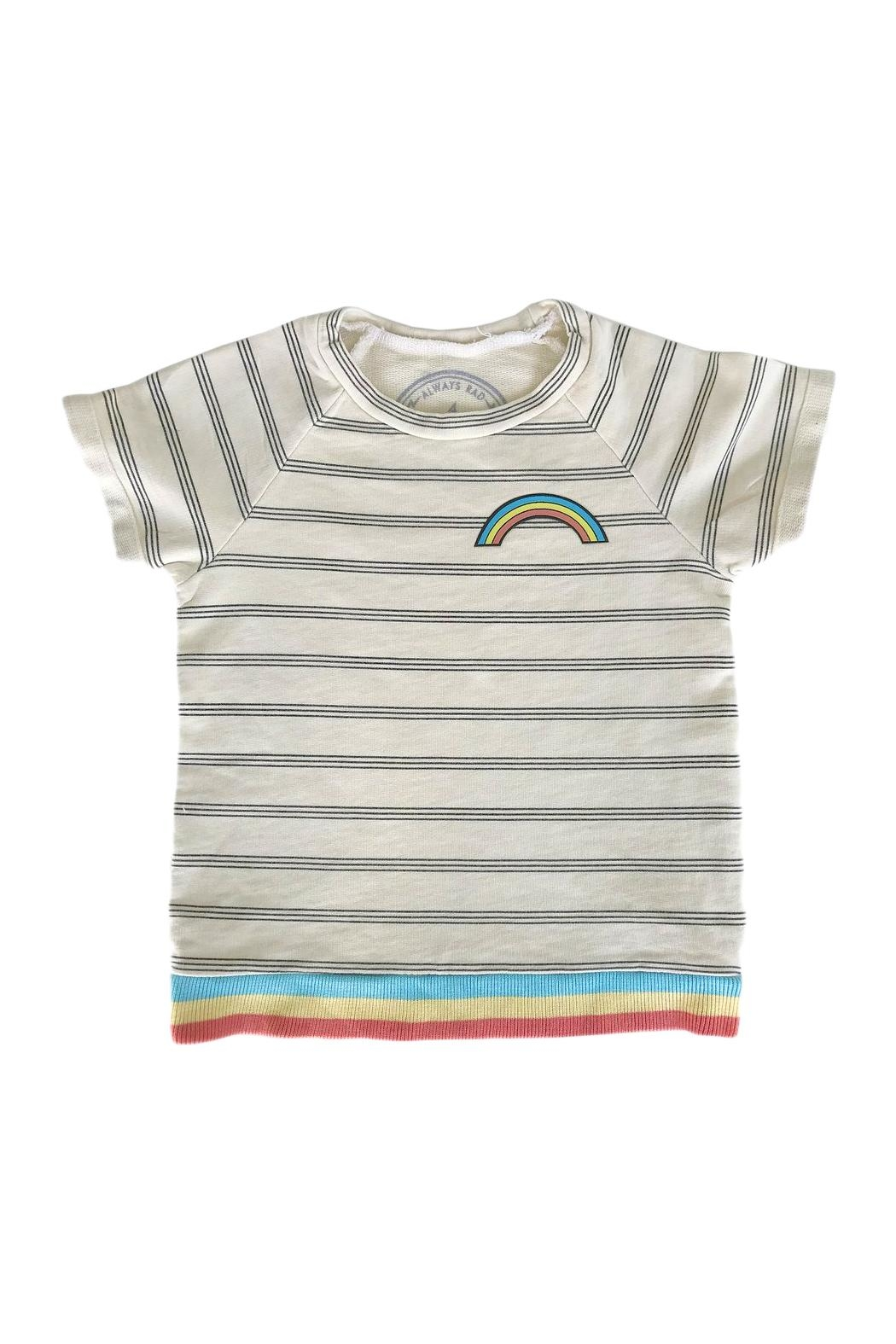 TINY WHALES Rainbow Top - Front Cropped Image