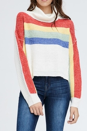 Emory Park Rainbow Turtleneck Sweater - Product Mini Image
