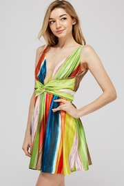 luxxel Rainbow Twist Dress - Front full body