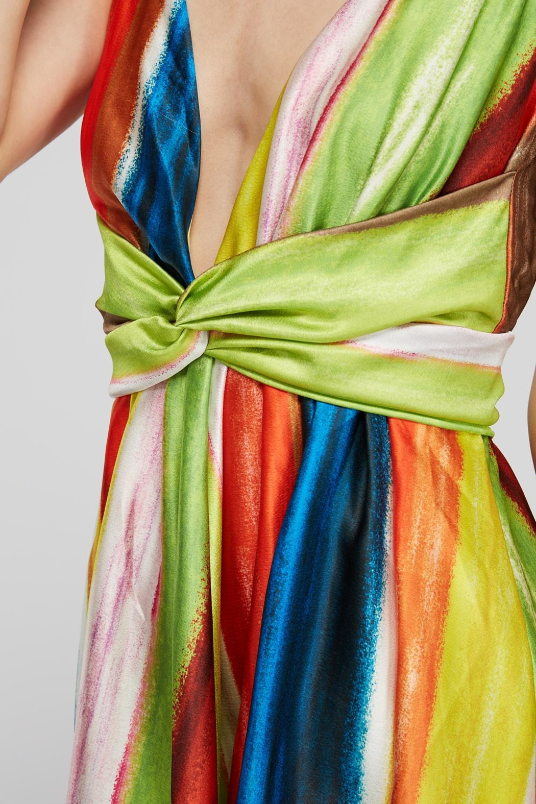 luxxel Rainbow Twist Dress - Back Cropped Image