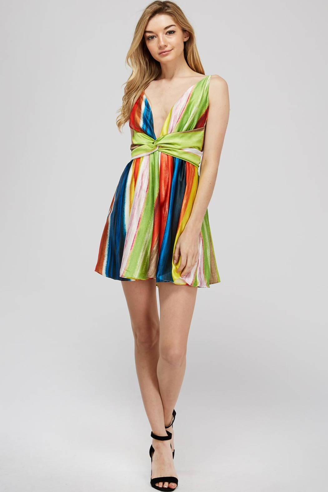 luxxel Rainbow Twist Dress - Main Image