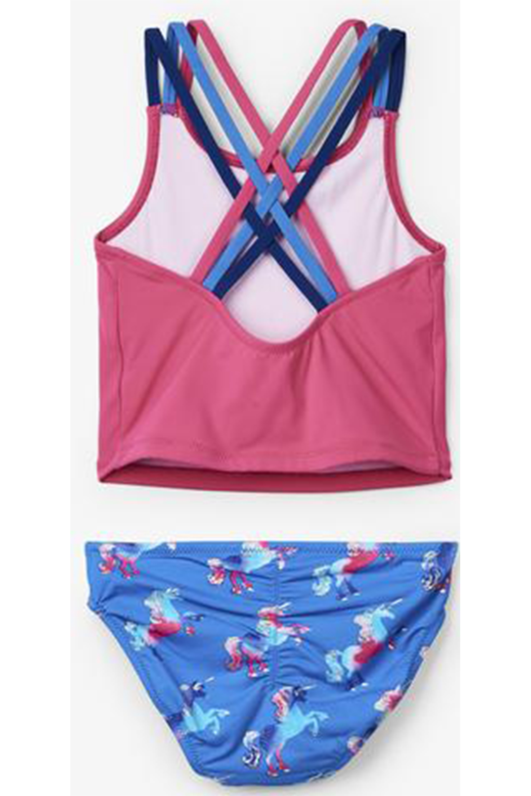 Hatley Rainbow Unicorn Sporty Tankini Set - Front Full Image