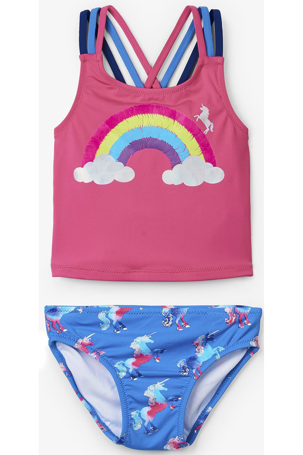 Hatley Rainbow Unicorn Sporty Tankini Set - Main Image