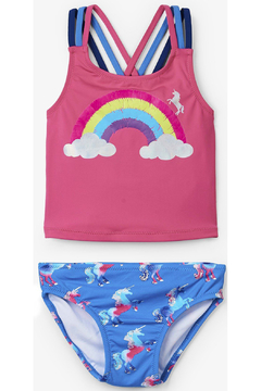 Shoptiques Product: Rainbow Unicorn Sporty Tankini Set
