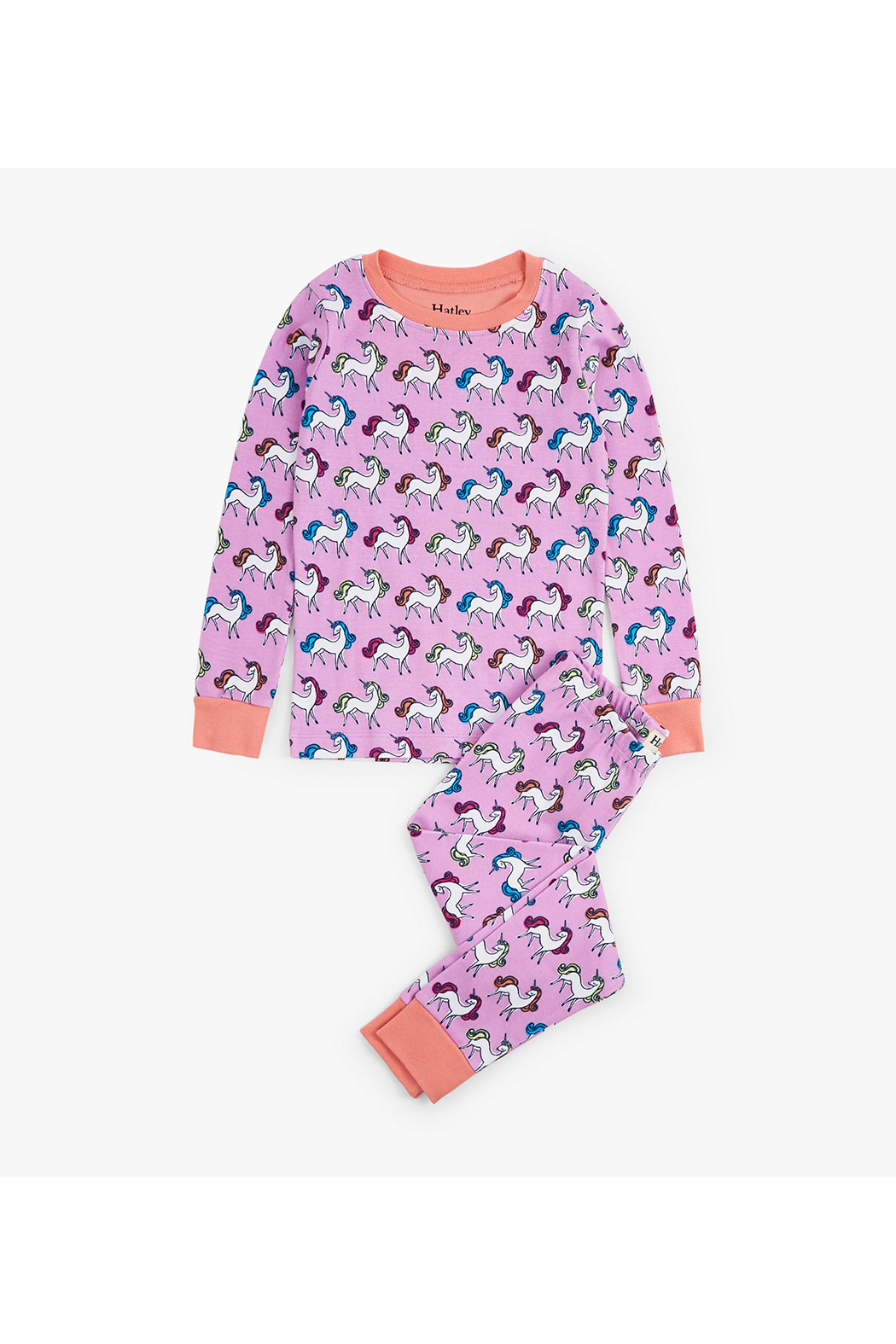Hatley Rainbow Unicorns Organic Cotton Pajama Set - Main Image