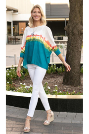 Sharon Young Rainbow Wash Dolman Sleeve Pullover - Product Mini Image
