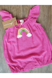 Mimi and Maggie Rainbow Wishes Romper - Front cropped