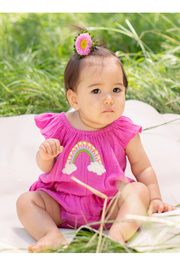 Mimi and Maggie Rainbow Wishes Romper - Front full body