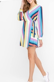 Lush Rainbow Wrap Dress - Product Mini Image
