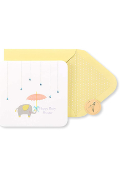 Papyrus Raindrops Umbrella And Elephant Baby Card - Product List Image