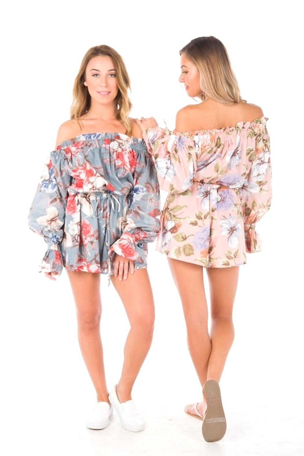 Blossom Rainforest Playsuit - Front Cropped Image