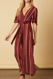 Cotton Candy LA Raisin-Red Stripe Jumpsuit - Product Mini Image