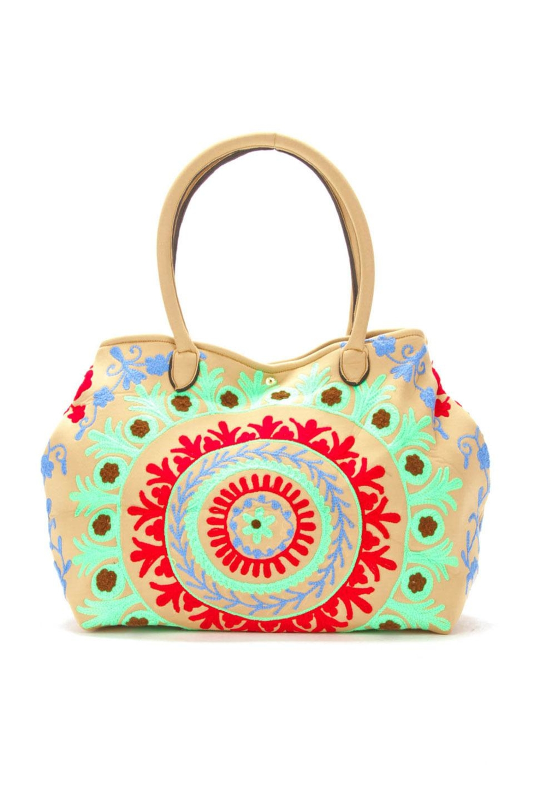 Raj Tote Embroidered Neoprene - Front Cropped Image