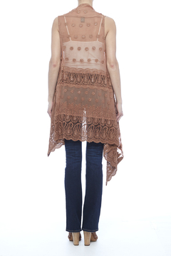 Raj Lotus Beige Lace Embroidered Vest - Alternate List Image
