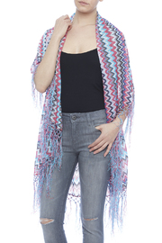 Raj Lotus Raj Cardigan Chevron Pattern - Front cropped