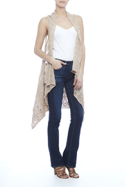 Raj Lotus Cream Lace Embroidered Vest - Product Mini Image