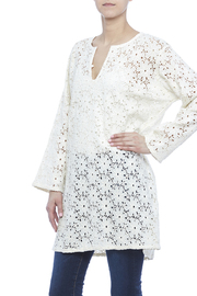 Raj Lotus Daisy Eyelet Tunic - Product Mini Image