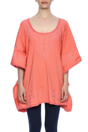 Raj Lotus Embroidered Lace Caftan - Side cropped