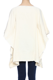 Raj Lotus Embroidered Lace Caftan - Back cropped