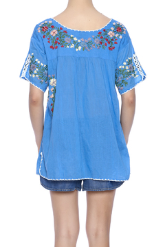 Raj Lotus Embroidered Mexican Peasant top - Alternate List Image