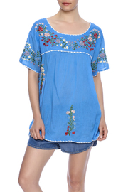 Raj Lotus Raj Top Embroidered Mexican Peasant - Product Mini Image