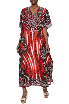Shoptiques Product: Printed Silk Long Caftan