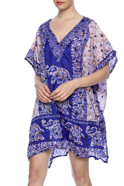 Raj Lotus Raj Caftan Printed Silk Short - Product Mini Image