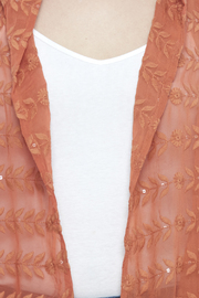 Raj Lotus Rust Lace Embroidered Vest - Other